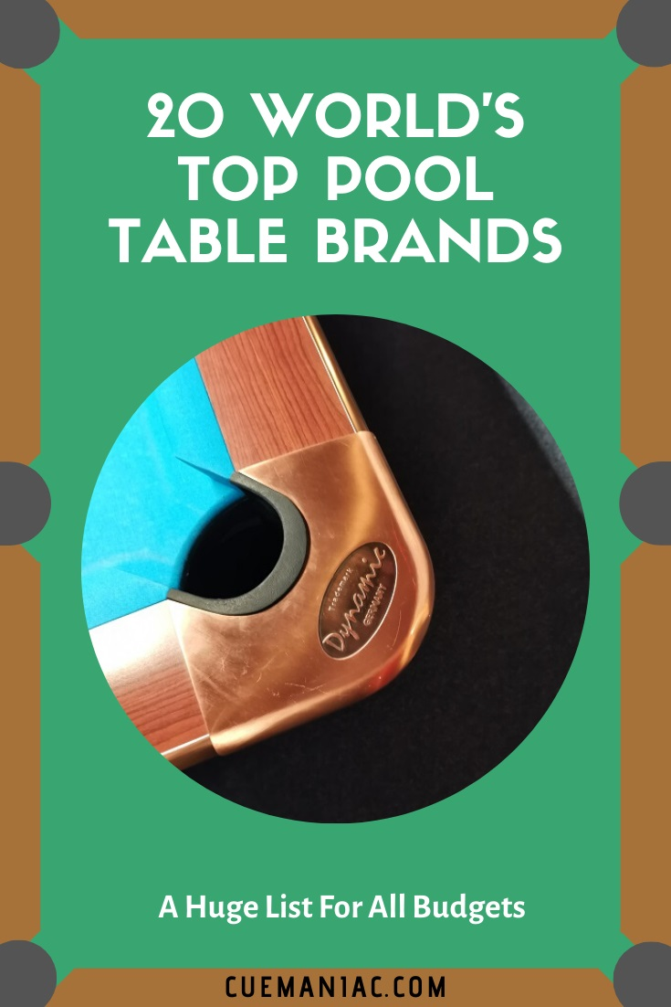 20 Worlds Top Pool Table Brands by CueManiac