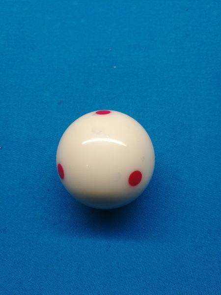 white ball in pool