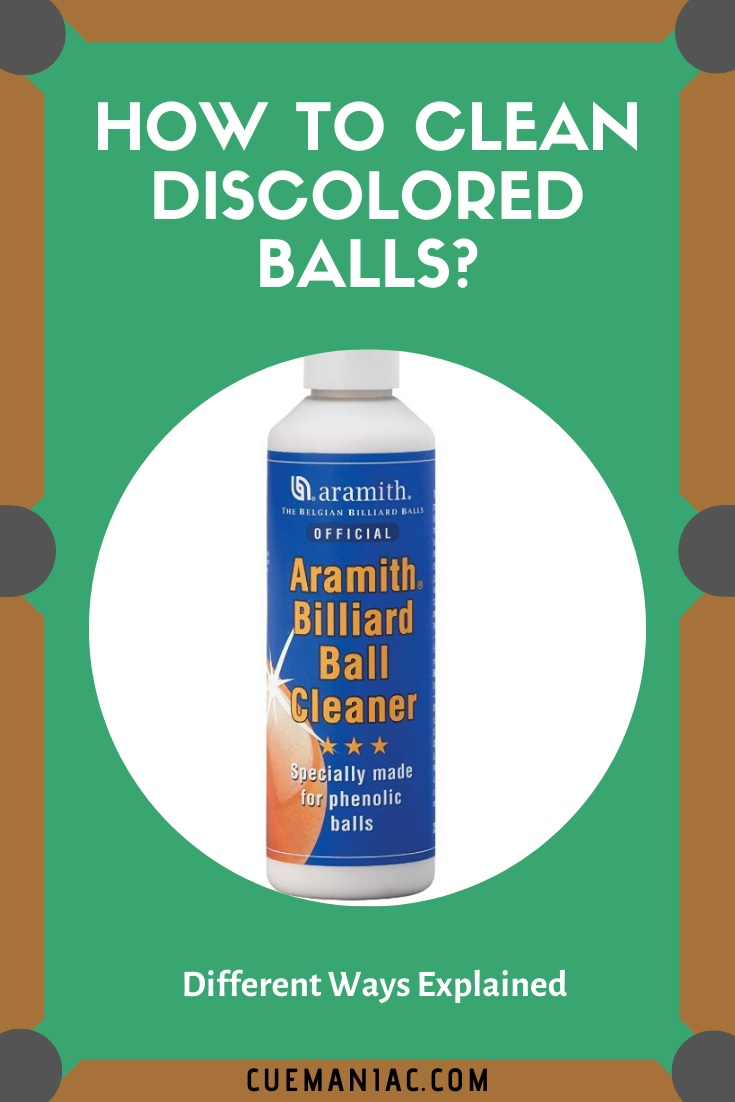 How to Clean Discolored Balls by CueManiac